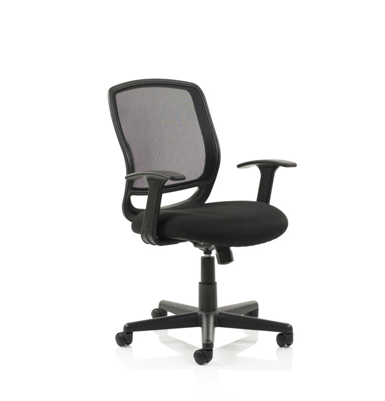 Mave Task Operator Mesh Chair With Arms - Black