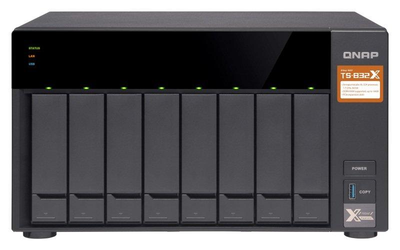 QNAP TS-832X-2G 64TB (8 x 8TB WD RED) 8 Bay NAS with 2GB RAM