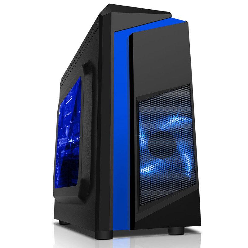 EG Cs55 Micro-ATX Tower Case - Blue
