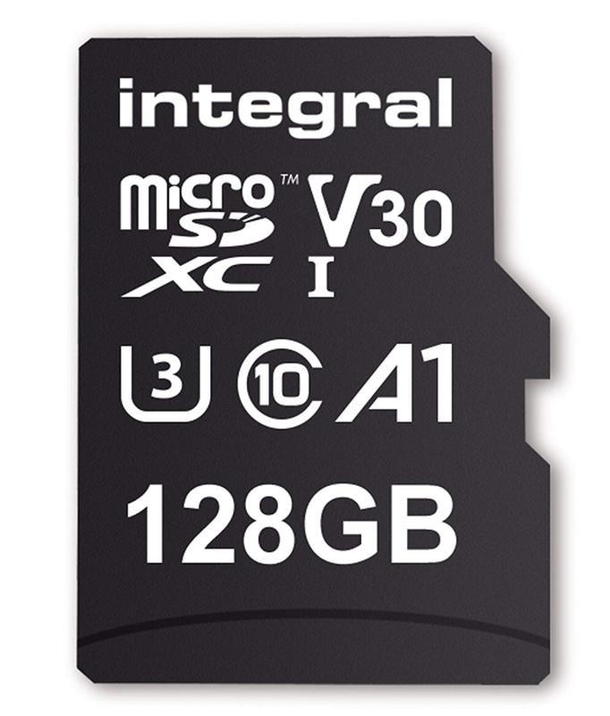 Integral 128GB 100/90MB Class 10 V30 UHS-I U3 MicroSD