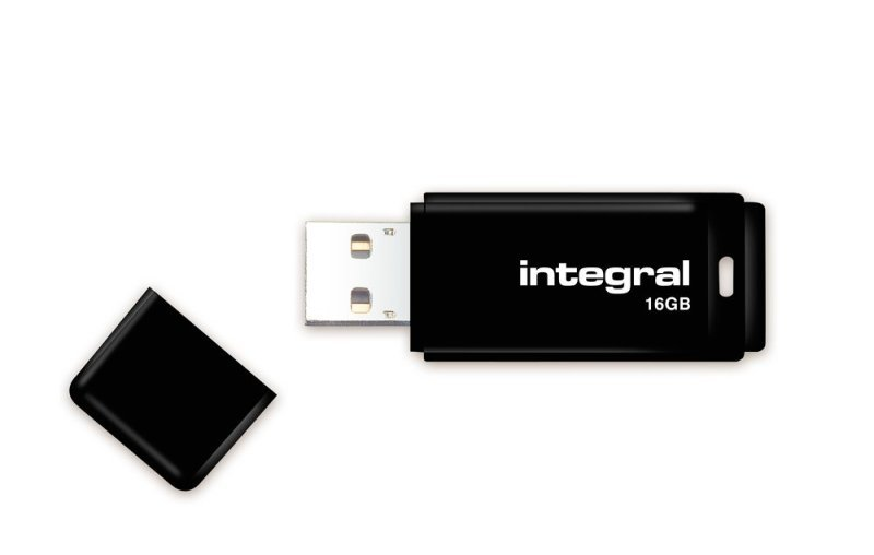 Integral 16GB USB 2.0 Black Flash Drive