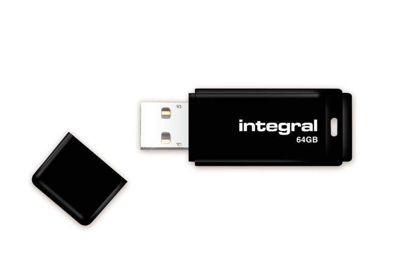 Integral 64GB USB 2.0 Black Flash Drive
