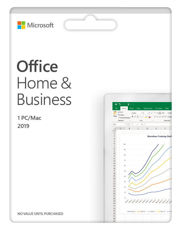 3 x Office Home & Business 2019 Medialess Bundle