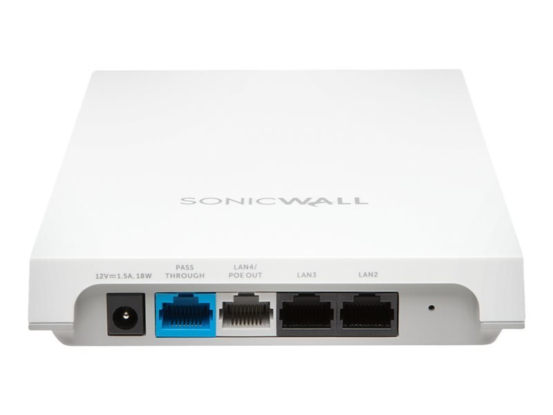 SonicWall SonicWave 224w Radio Access Point - with 1 year Advanced Secure Cloud WiFi Management & Support