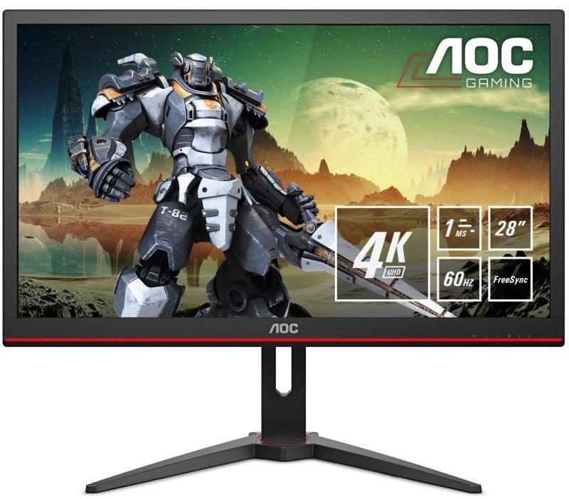 "AOC G2868PQU 28"" 4K UHD 1ms FreeSync HDR Gaming Monitor"