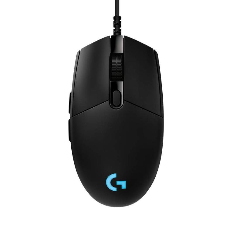 Logitech G Pro Gaming Mouse High-Speed Gaming RGB Lightning with 6 Programmable Buttons - Black