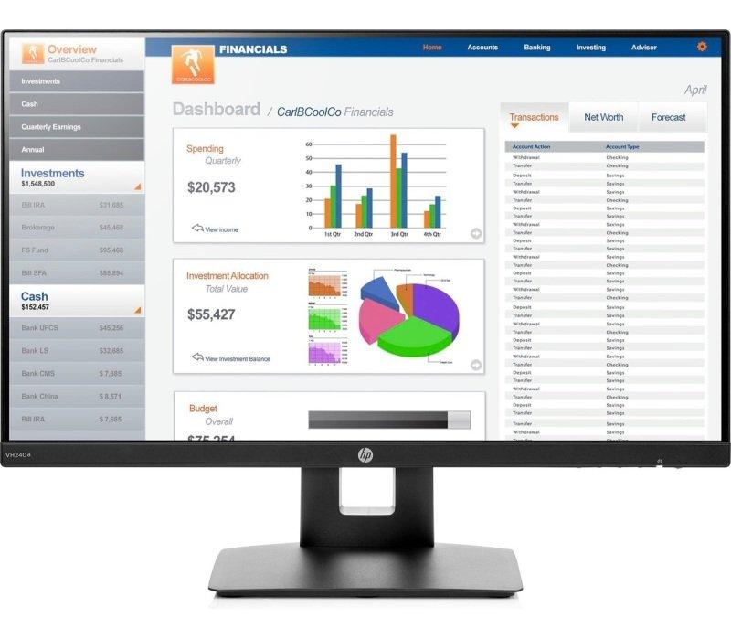 "HP VH240A 23.8"" Full HD IPS Monitor"