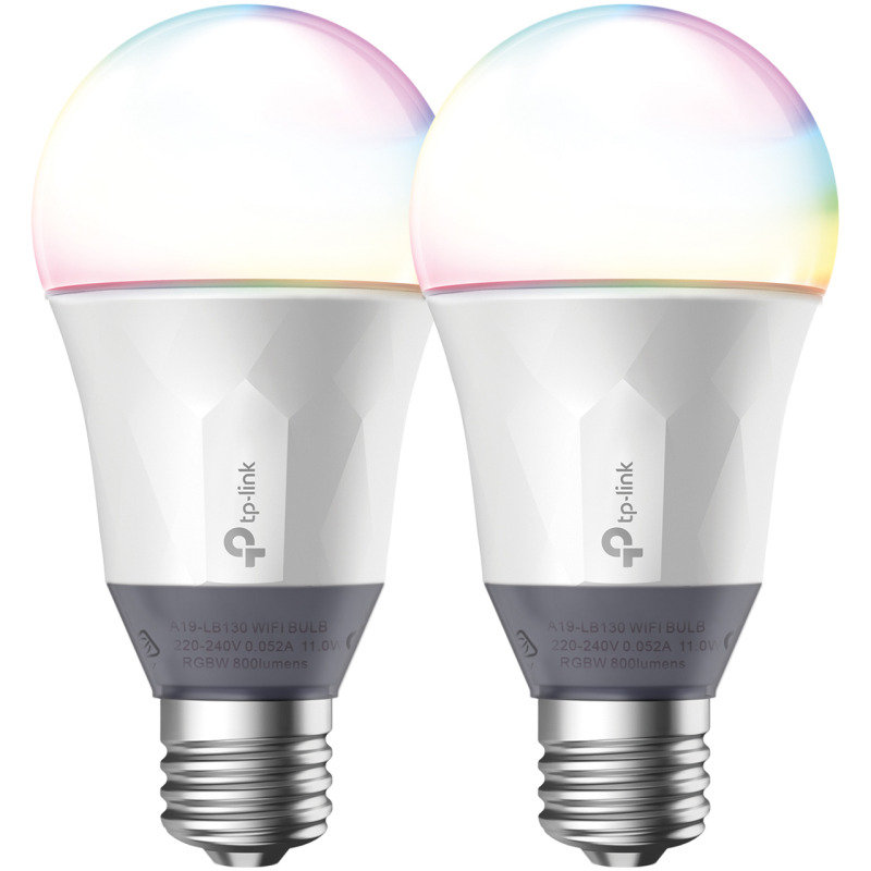 TP-Link LB130 Smart Wi-Fi LED Bulb with Colour Changing Hue Twin Pack
