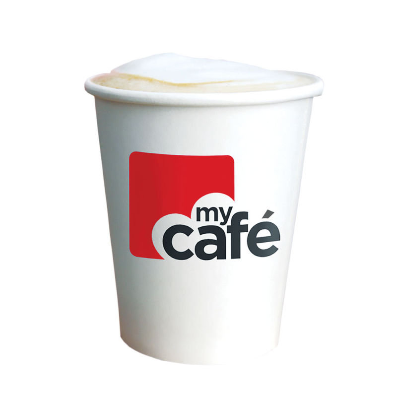 MyCafe 8oz Single Wall Hot Cups (Pack of 50) HVSWPA08V