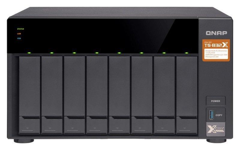 QNAP TS-832X-2G 8 bay desktop NAS