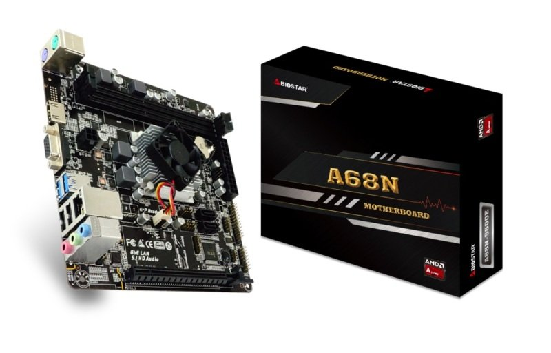 Image of Biostar A68N-5600E AMD Integrated CPU mITX Motherboard