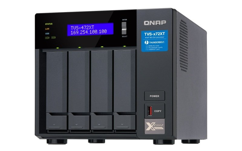 QNAP TVS-472XT-PT-4G 4 Bay Desktop NAS Enclosure 4GB RAM