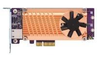 QNAP QM2-2P10G1TA Dual M.2 2280 PCIe SSD & single-port 10GbE Card
