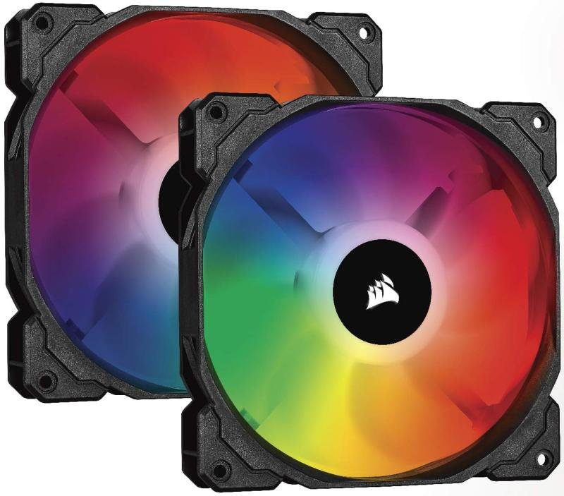 Corsair iCUE SP140 RGB PRO, RGB LED, Low-Noise, High Airflow, Case Cooling Fan (Dual Pack), 140 mm