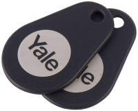 Yale Key Tag - Retail - Rfid Tag - Black (pack Of 2)