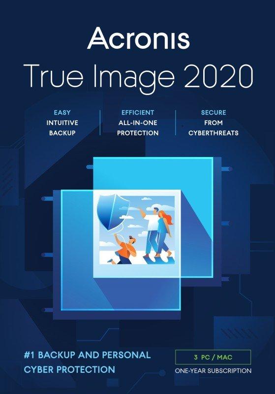 Acronis TI33B2UKS True Image 2020 License - 3 Computers