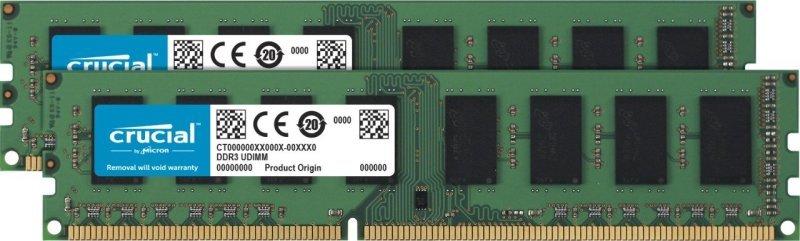Crucial CT2K51264BD160B 8 GB Kit (4 GB x 2) (DDR3L, 1600 MT/s, PC3L-12800, DIMM, 240-Pin) Memory