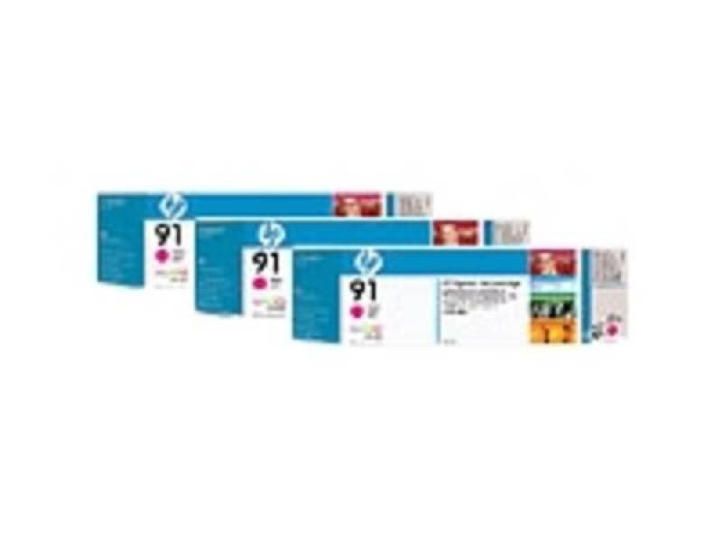 HP 91 775ml Magenta Ink Cartridge - 3 Pack