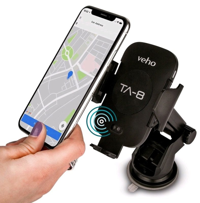 Veho Universal in-car smartphone cradle with Qi wireless charging