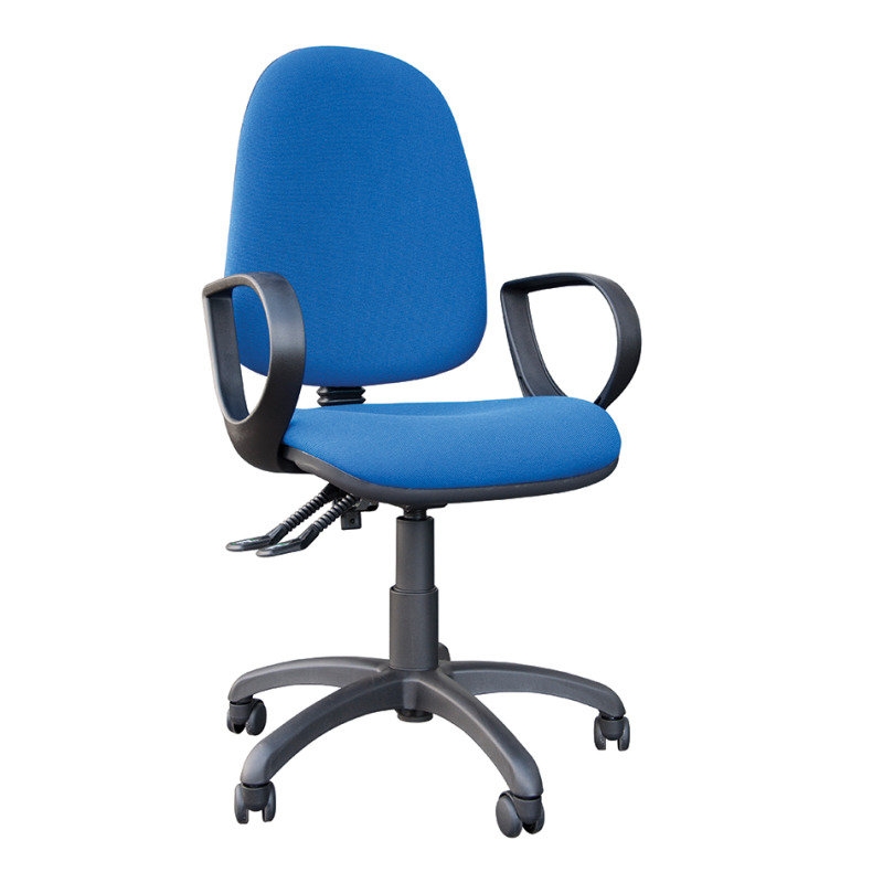 FR First High Back Posture Chair with Adjustable Arms Blue KF83932