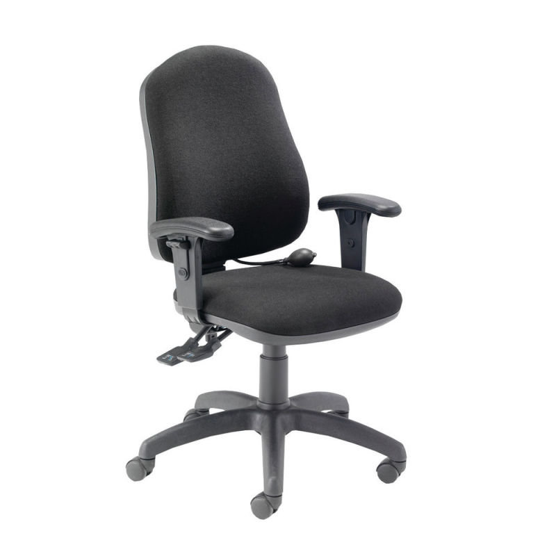 Image of Fr First Hb Posture Chair Adj Arms Black