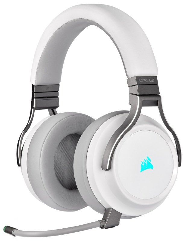 Corsair Virtuoso 7.1 Wired/Wireless RGB Gaming Headset - White