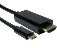 1M USB TYPEC M HDMI M BLK CAB 4K60HZ