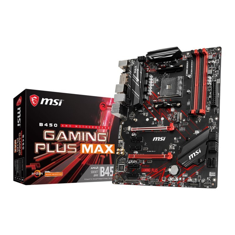 MSI B450 GAMING PLUS MAX AM4 ATX Motherboard