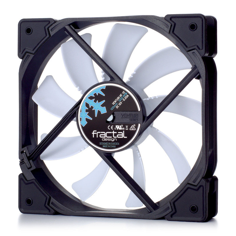 Fractal Design Venturi HF-12 120mm Case Fan Black/White