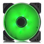 Fractal Design 140mm Green LED Prisma SL-14 3-pin DC PC Cooling Fan