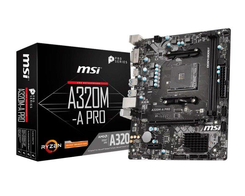 MSI A320M-A PRO AMD Socket AM4 Motherboard