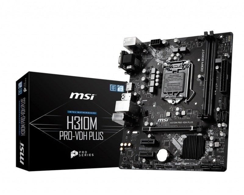 MSI Intel H310M PRO-VDH PLUS 1151 mATX Motherboard