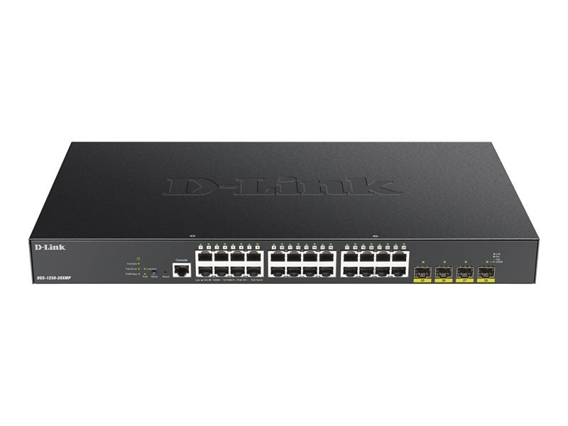 D-Link DGS-1250-28XMP 28-Port 10-Gigabit Smart Managed PoE Switch