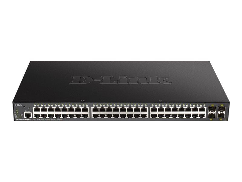 D-Link DGS-1250-52XMP 52-Port 10-Gigabit Smart Managed PoE Switch