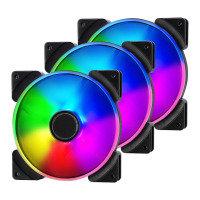 Fractal Design 140mm Addressable RGB LED Prisma AL-14 3-pin DC PC Cooling Fan Triple Pack