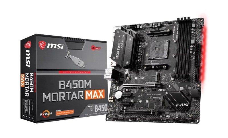 MSI Ryzen B450M MORTAR MAX AM4 mATX Motherboard