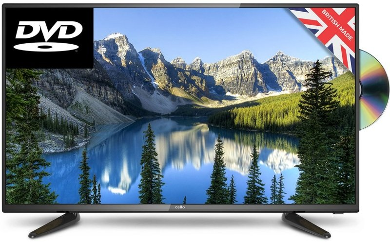 """Cello 40"""" LED Full HD Freeview HD DVD Combi TV"""