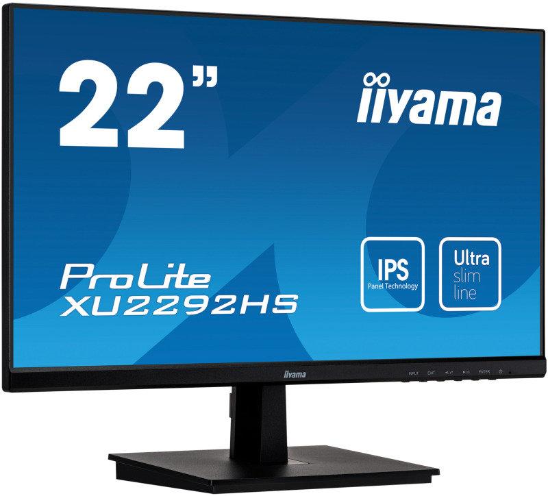 """Iiyama XU2292HS-B1 22"""" Full HD IPS UltraSlim Bezel Monitor"""