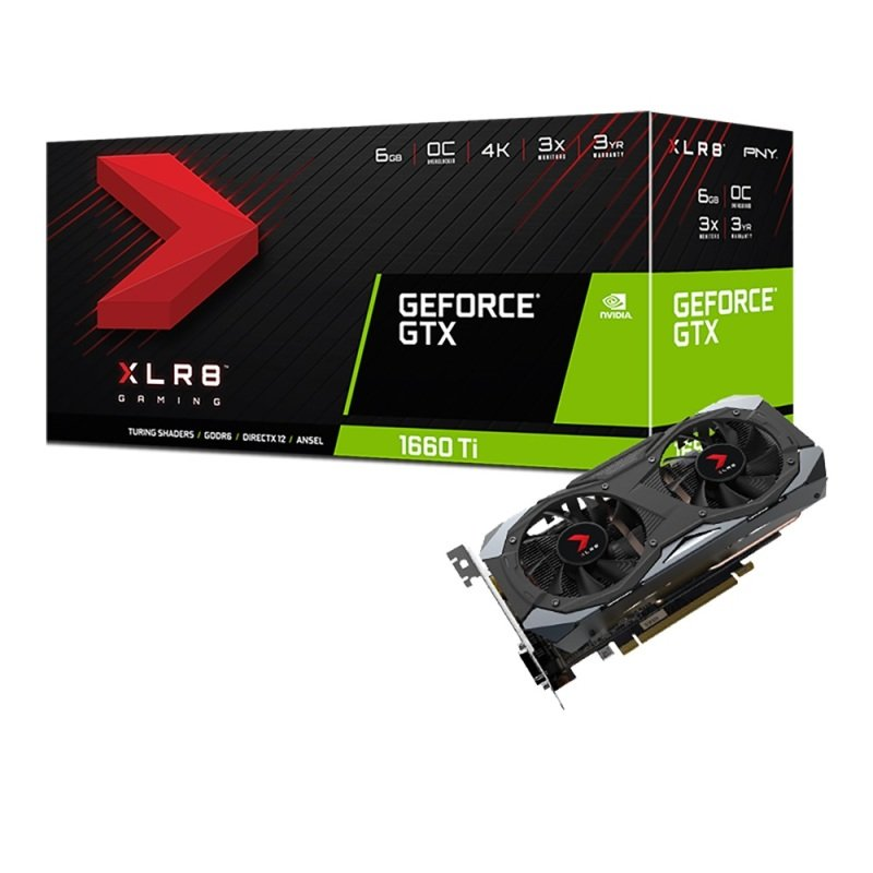 PNY GeForce GTX 1660 Ti XLR8 Gaming OC Champions Edition Graphics Card