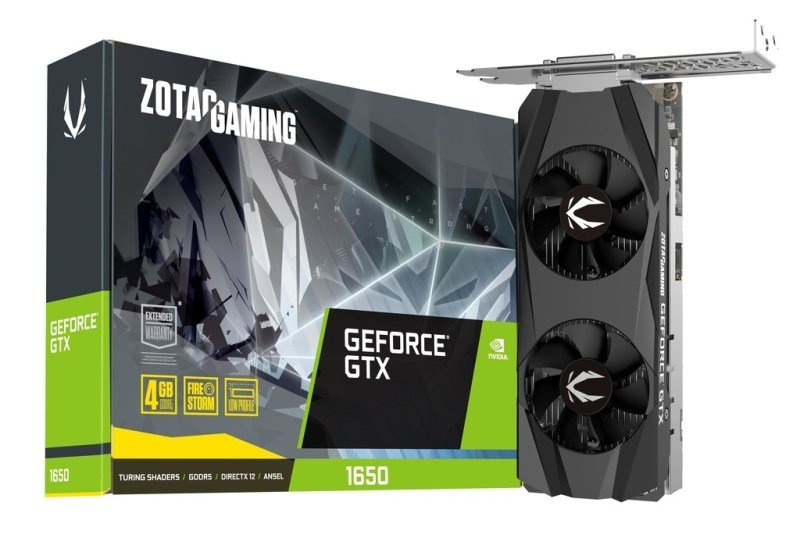 Zotac Geforce GTX 1650 Low Profile 4GB Graphics Card