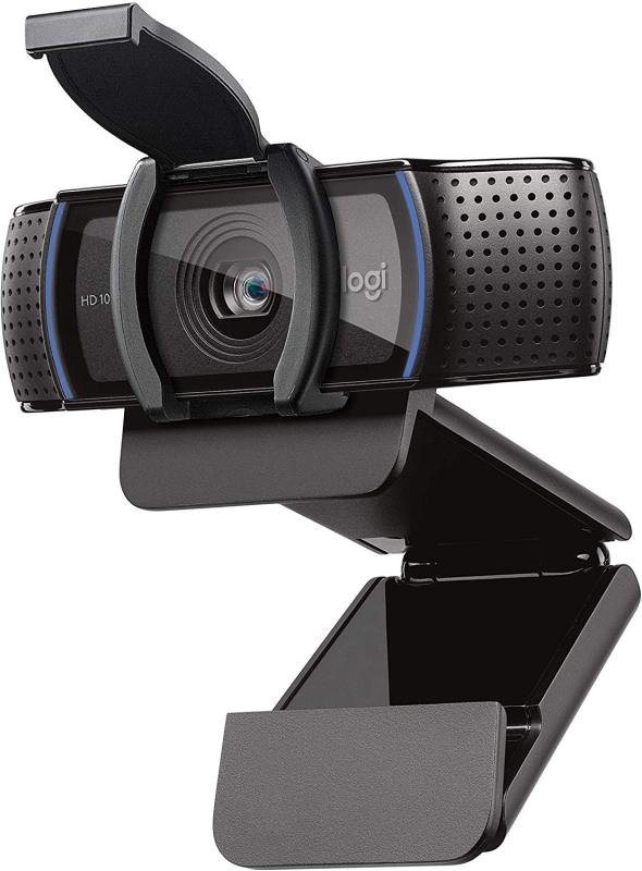 Logitech C920s HD Pro Webcam - Full HD 1080p Video Calling and Recording with Dual Stereo Audio Mics