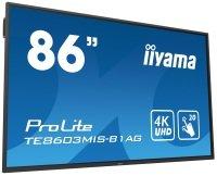 "Iiyama TE8603MIS-B1AG 86""  Black 4K UHD Interactive Display"