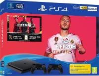 Playstation 4 500GB Console with FIFA 20 with 2 Dualshock Controllers