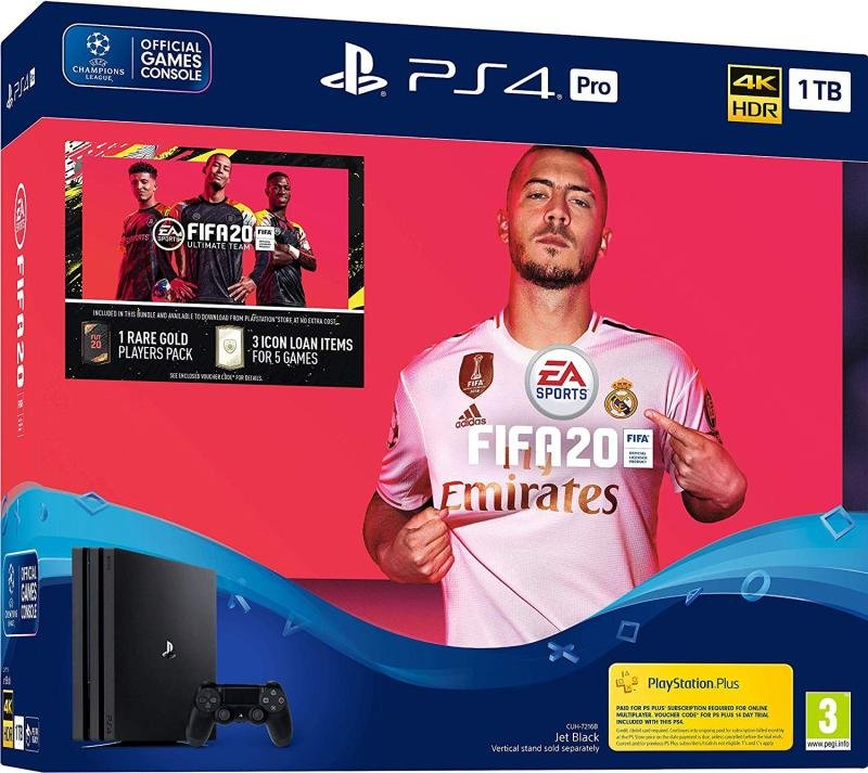 Playstation 4 Pro 1TB Console with FIFA 20