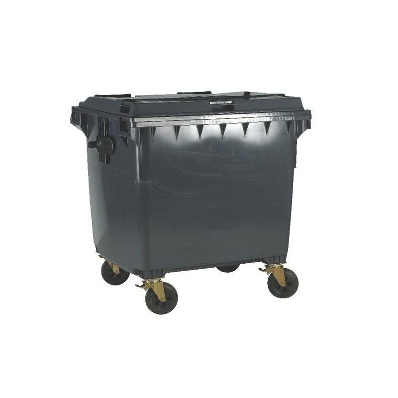 Fd 770l Drop Front Wheellie Bin Grey
