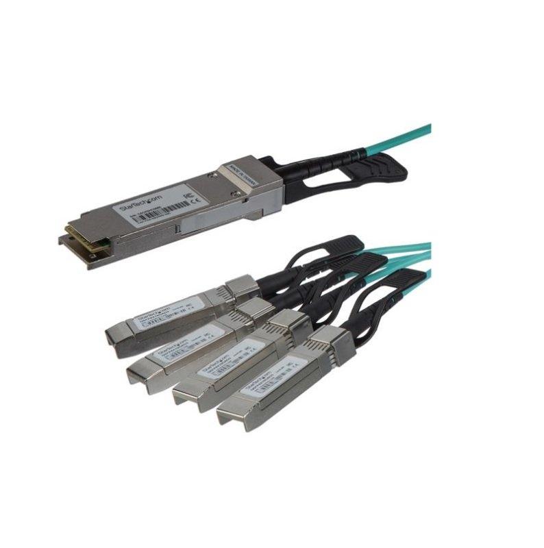 StarTech.com Cisco QSFP-4X10G-AOC5M Compatible - QSFP+ Active Optical Breakout Cable - 5 m
