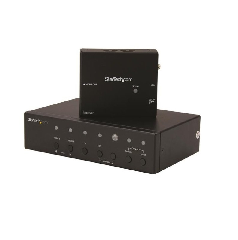 StarTech.com Multi-Input HDBaseT Extender with Built-in Switch - DisplayPort, VGA and HDMI Over CAT5 or CAT6 - Up to 4K