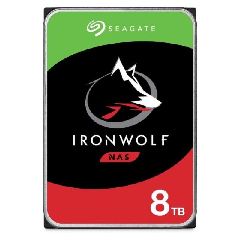 "Seagate IronWolf 8TB NAS Hard Drive 3.5"" 7200RPM 256MB Cache (CMR)"