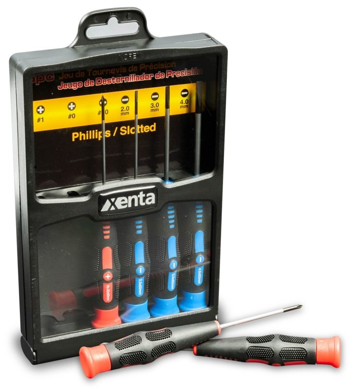 6 Piece Precision Screwdriver Set (Round Blade 60mm)