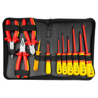 11-piece 1000V Insulated Screwdriver and Pliers Set